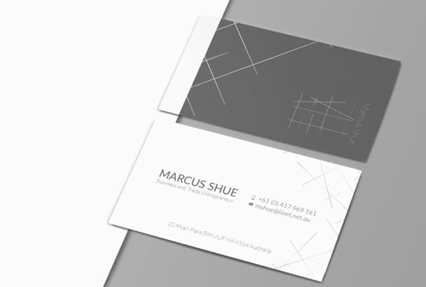 Minimal business card design fiverr design 24h two business cards or more reheart Choice Image