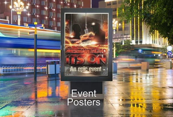 design a AMAZING Poster Banner for your business or event