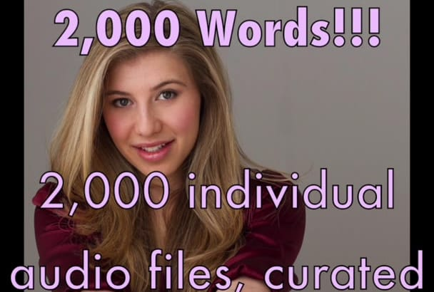 send 2,600 separate words for Children or English Learning