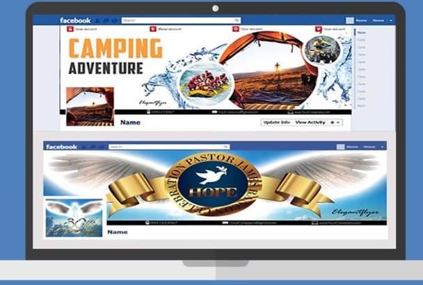 make 2 professional FACEBOOK cover timeline