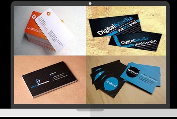 create 2 stunning and beautiful BUSINESS cards in 24hrs