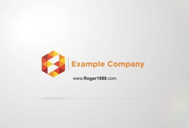 do minimal business logo intro