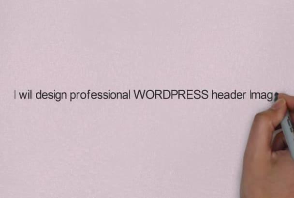 design professional WORDPRESS header Image