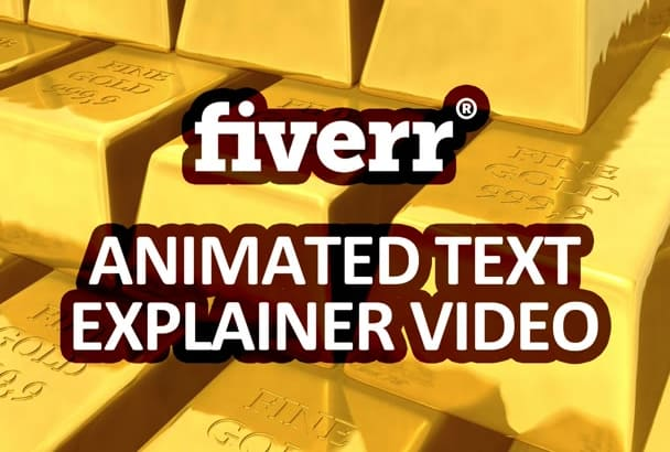 create a custom animated text explainer video animation