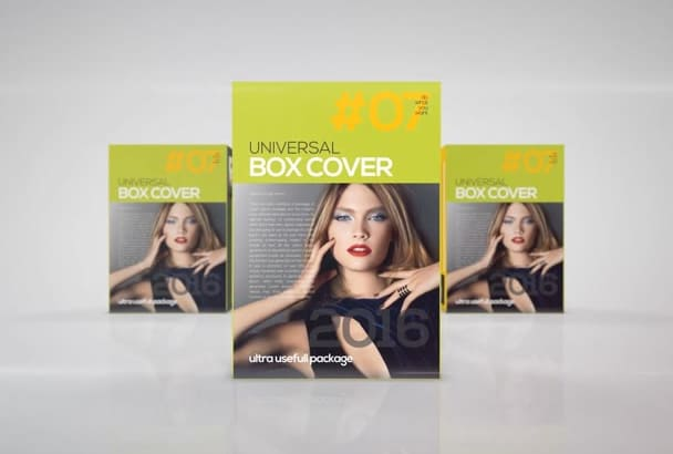 create promo video or advertise of any product in Box Cover