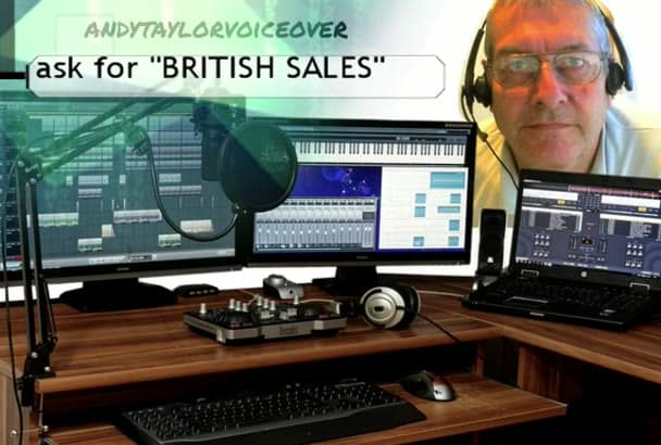 provide a British voiceover Today