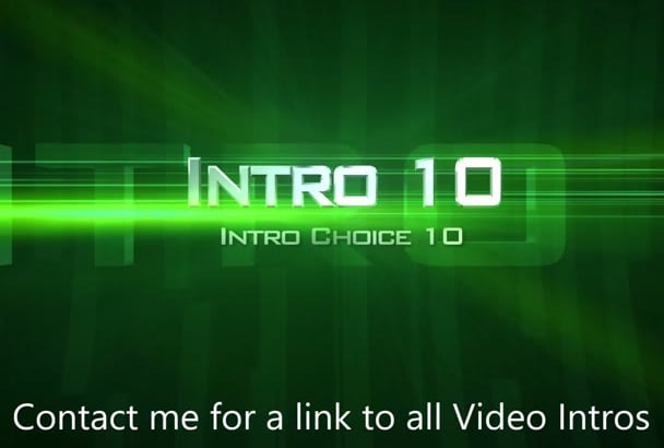 create your dazzling Intro Video