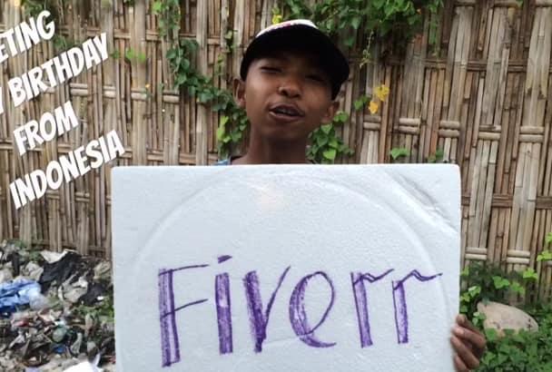 3 Boy Sing And Greeting Happy Birthday From Indonesia Alternately