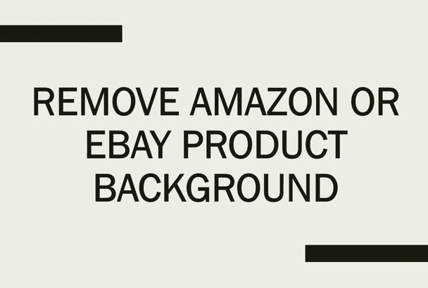 remove Amazon or eBay product background