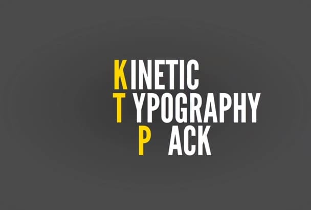 create a Motion Graphics Kinetic Typography Video