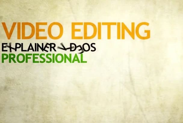 create or edit any videos fast and perfect professionally