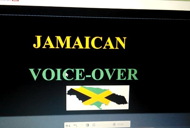 record a voice over in a female Jamaican Accent