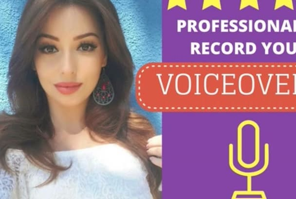 record a Voice Over in a feminine American accent