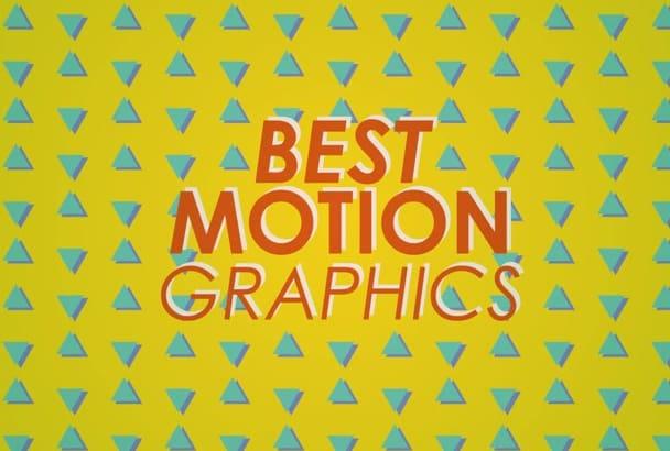 hacer una animación motion graphic de calidad