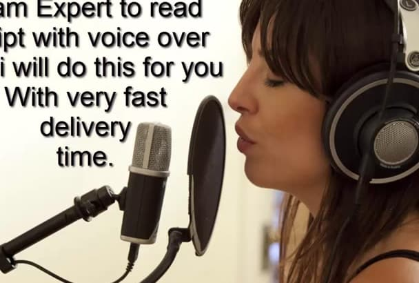 read your Script with Female Voice Over