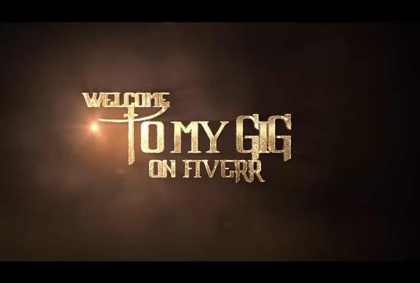 create cinematic golden logo burning intro