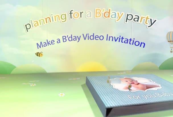 create A Memorable Birthday Video Invitation For You
