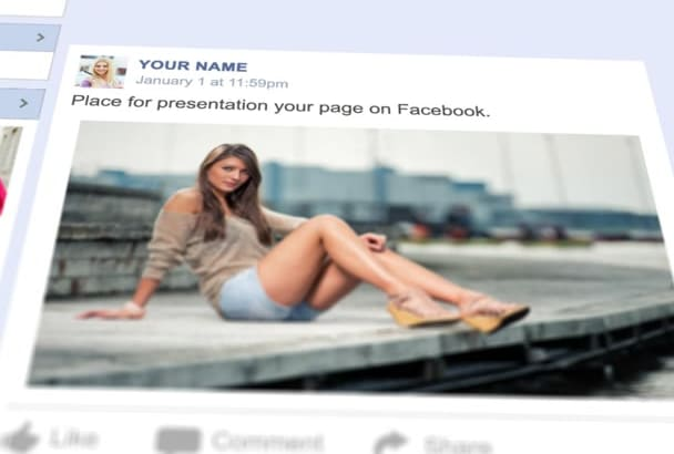 make promotional video for your facebook page within 24h