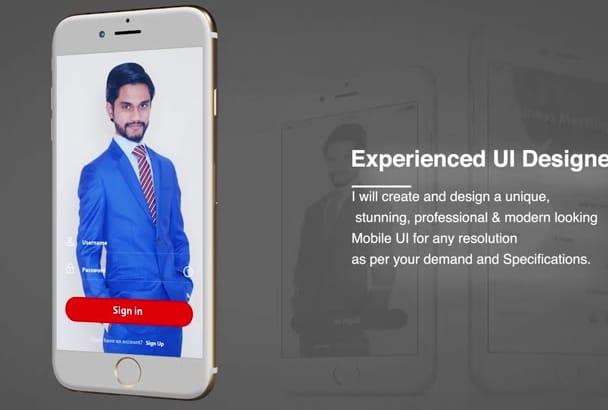 design creative Android , iOS mobile UI