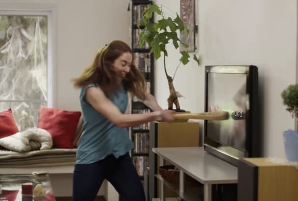 customize this frustrated woman video commercial