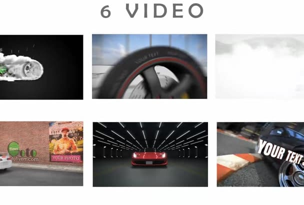 create 1 in 6 AMAZING video intro with Sport car