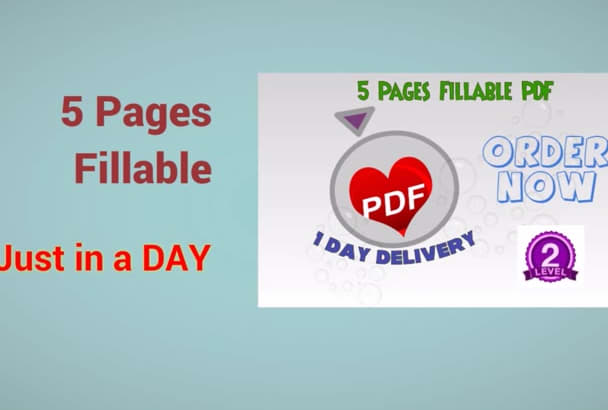 create fillable PDF quickly