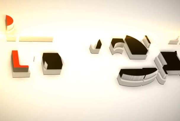design this ELEGANT block builder animated logo video intro