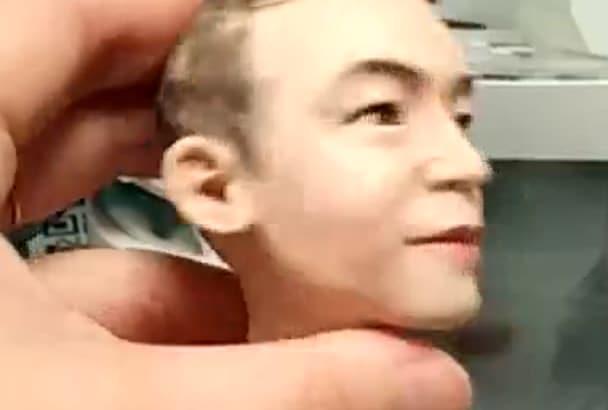 sculpt unique head sculpture with your looks
