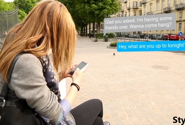 create Text Message Animation for you