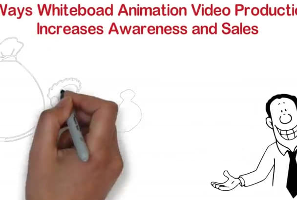 make an amazing WHITEBOARD video 200 words with voice