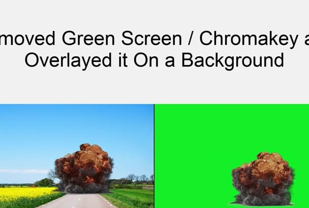 chromakeying green screen video image footage composition editing professionally