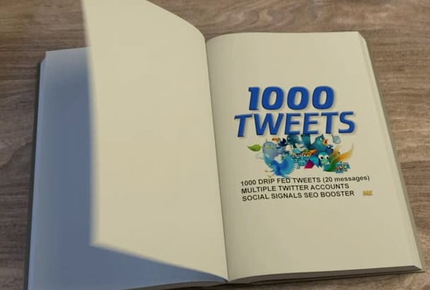 do SEO 1000 Tweets from multiple Twitter accounts