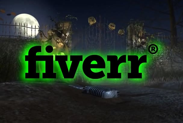 add your logo and text in this scary Halloween video