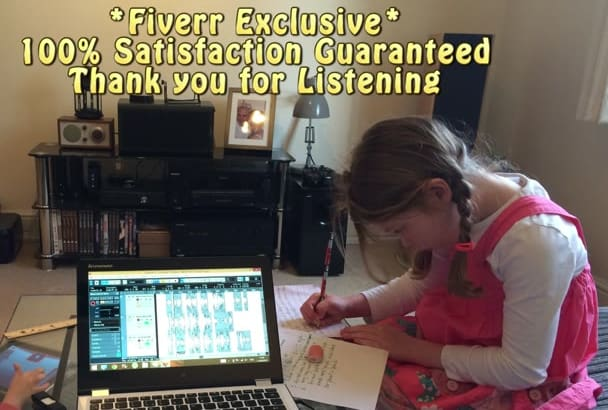 record Real Child English Voice Over British Little Girl