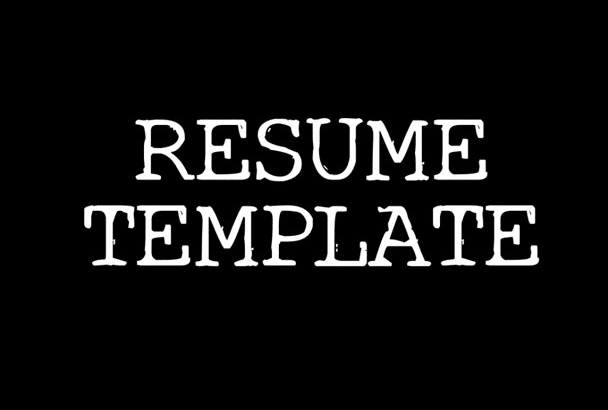 provide you a ready made Resume in Microsoft Words