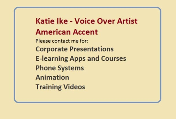 record voice over for corporate and educational videos
