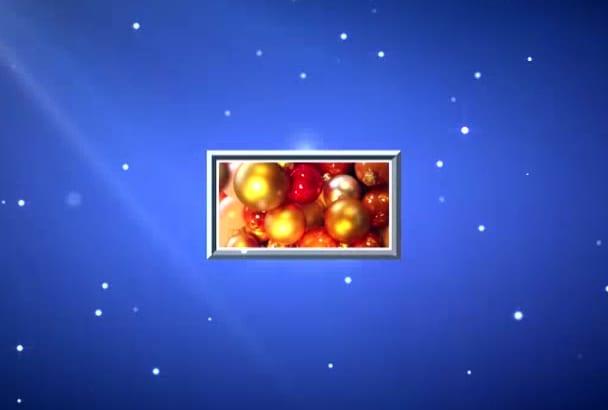 make Christmas photo slideshow