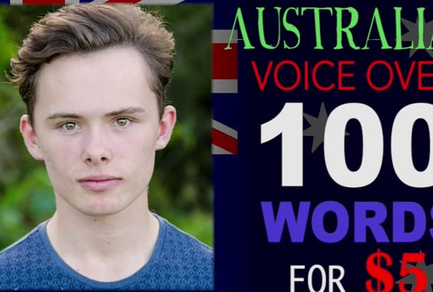 do a professional Australian voice over TODAY