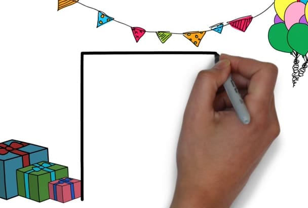create a personalised Birthday Message whiteboard animation