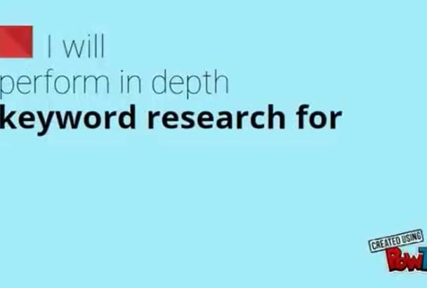 do keyword research for your niche site