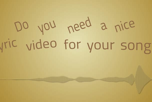 create an animated lyric video for your song