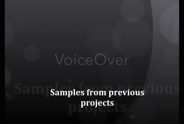 record the voice over you need