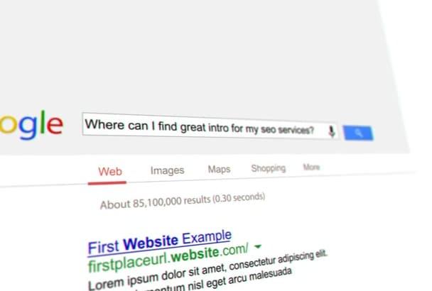 make great google search seo video
