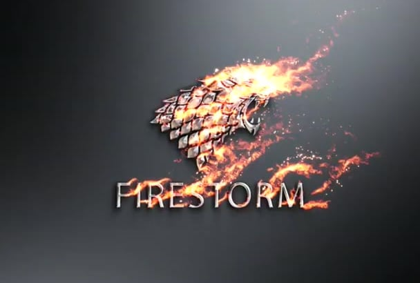 create amazing fire and metal intro