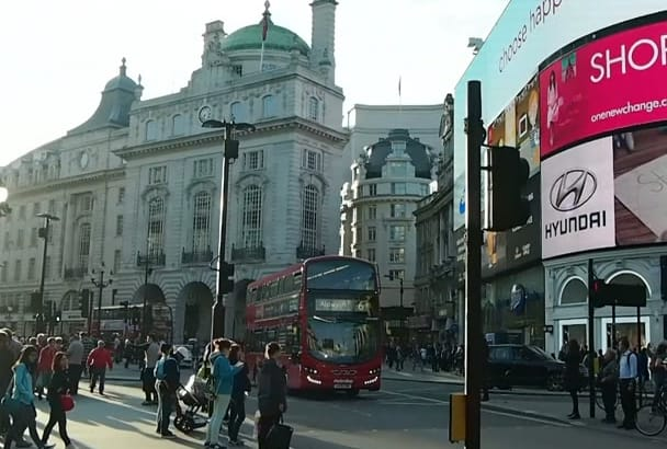 add your content to this video of piccadilly circus