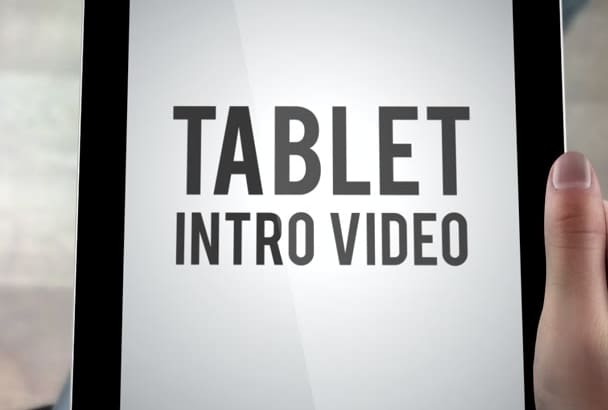 edit this promo tablet video