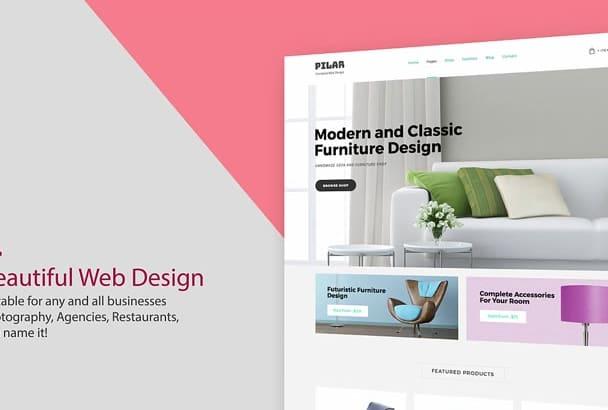 create a Professional WordPress Website or WordPress design