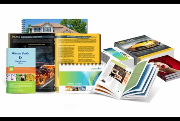 design business catalogue or book let