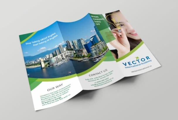 design advertising brochure or flyer
