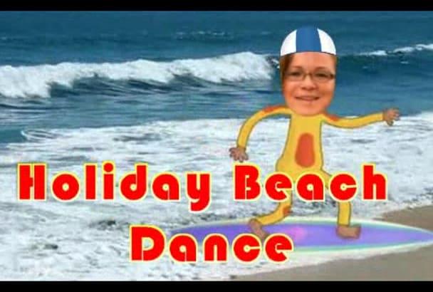 make funny Holiday Beach video DANCE